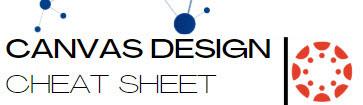 Canvas Design Cheat Sheet