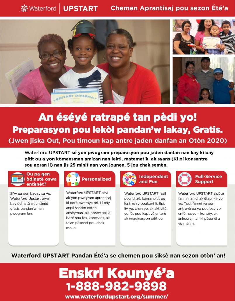 UPSTART Summer 2020 – Haitian Creole